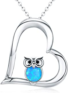 Graduation Gift Owl Gifts Silver Opal Owl Necklace Best Gifts for Owl Lovers Wisdom Necklace for Her
