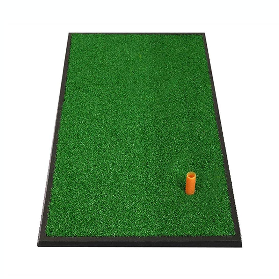 古くなったコントロール見通しパッティングマット ミニゴルフ練習マット、携帯用ドライビング、??チッピング、トレーニング援助、家庭用裏庭&屋内練習用具33cm×63cm