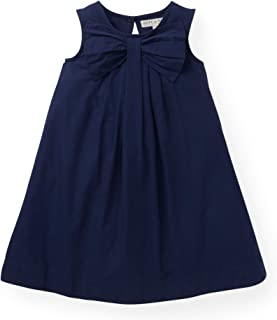 Girls' Dress with Bow Front