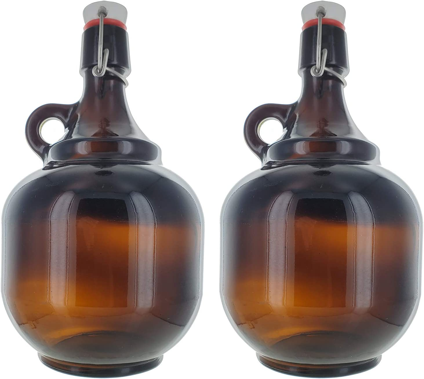2 Liter Amber Flip Top Growler Excellence x2 Manufacturer direct delivery Style