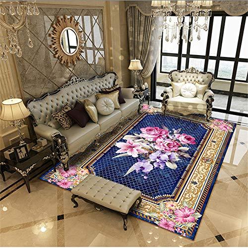 Alfombras Oficinas morado Alfombra Pie De Cama Alfombra de sala de estar rural, alfombra de hogar de lujo ligero, mesa de...