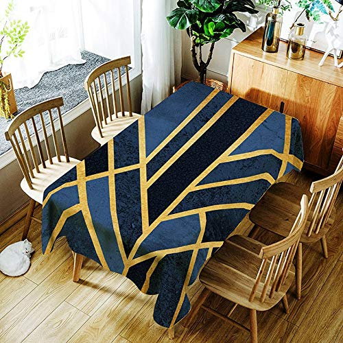 XXDD Mantel a Rayas de Moda Creativo Colorido Mantel con patrón de línea cómoda Cubierta de Mantel Impermeable A4 135x180cm