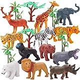 HERSITY Animaux Sauvages Jeux Animaux de la Foret Figurine Réalistes Sac de Cadeaux pour Enfants Garcon Fille