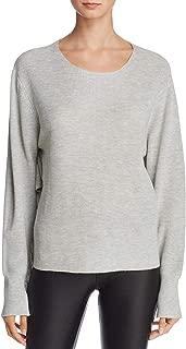 JOHN & JENN Womens Luna Ribbed Ruffled Pullover Sweater