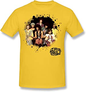 SJWL Cool-Tee Men's Sly and The Family Stone Poster O-Neck T Shirts Red