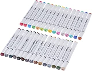 30 Colors Dual Twin Tip Marker Marking Pens Art Sketch Highlighters for Colorful Graphic Drawing Coloring Painting Highlig...