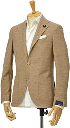 [LARDINI【ラルディーニ】]ジャージージャケット EASY JP0526AQY/EGRP52596/12 コットンリネン ベージュ