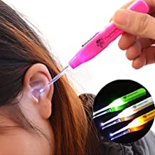 ADTALA Ear Pick Earwax with LED Light Cleaning and Removal Tool, Curette Store Extra Extensions in Rear Better Accuracy and Precision Earpick (Multicolour)