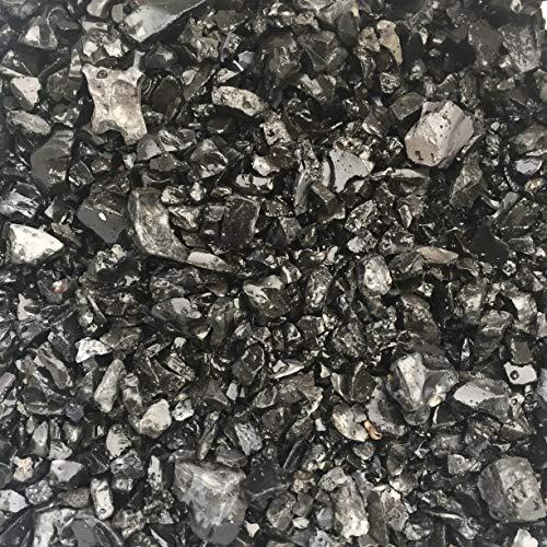Zierkies 5/16mm, 5 kg, schwarz/anthrazit gerundet, Dekoration für Haus und Garten