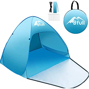 Blue Portable Anti-UV Tent BFULL Outdoor Automatic Pop up Beach Tent