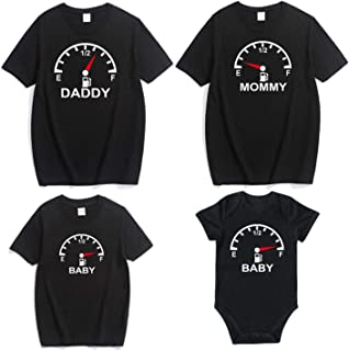 Mommy and Me Mother Daughter Clothes Compass Clock Print Family T Shirts
