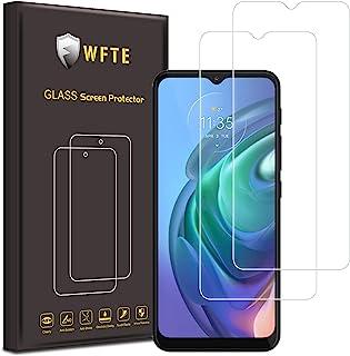WFTE [2-pack] Motorola Moto G10/G30/G8 Power Lite/Moto E7i power/Moto G9 Play skärmskydd, hög transparens, anti-fingeravtr...