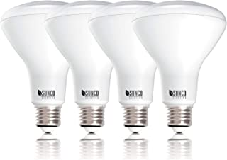 Sunco Lighting 4 Pack BR30 LED Bulb 11W=65W, 3000K Warm White, 850 LM, E26 Base, Dimmable, Indoor Flood Light for Cans - UL & Energy Star
