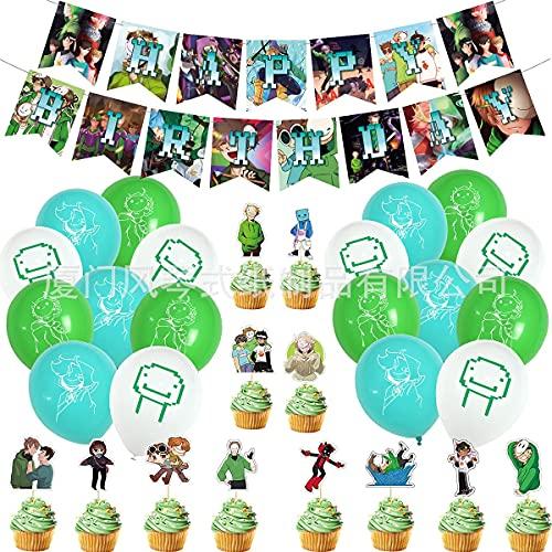 lúcar Dream SMP Tema Fiesta de cumpleaños Set Balloon...