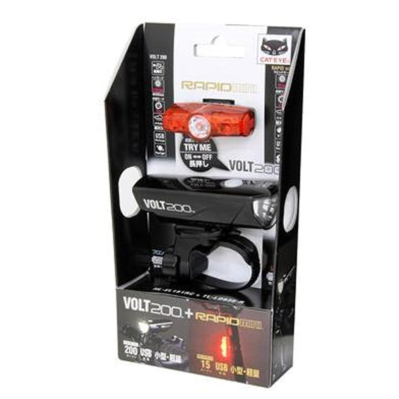 赤道おばさん機関車キャットアイ(CAT EYE) LEDヘッドライト+テールライトキット USB充電式 VOLT200+RAPID mini HL-EL151/TL-LD635