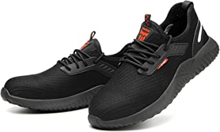 Goolfly Steel Toe Safety Shoes Labor Protection Shoes for Men Women Work Sneakers Breathable Lightweight Industrial & Cons...