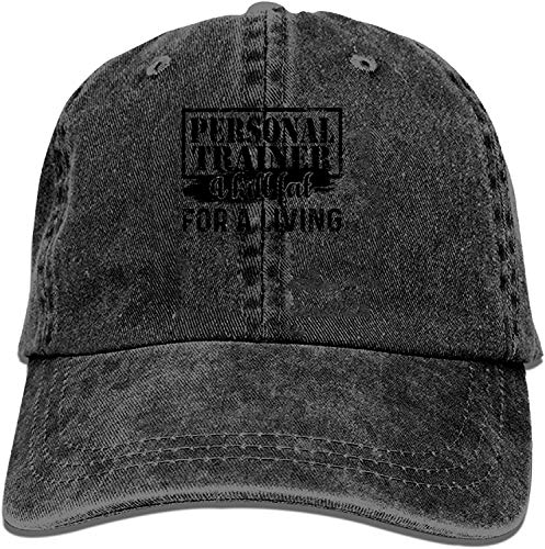 Nigmfgvnr Baseball Trucker Cap,Personal Trainer Kill Fat Adjustable Youth Cowboy Mens Golf Caps Hats
