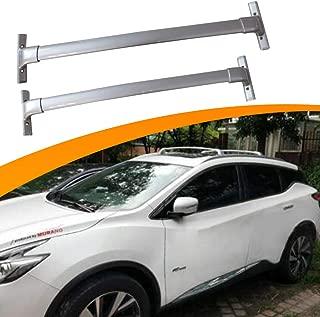 SnailAuto 2pcs Silver Aluminum Cross Bars Roof Rack Cargo Bar Fit for Nissan 3rd Murano 2015-2019