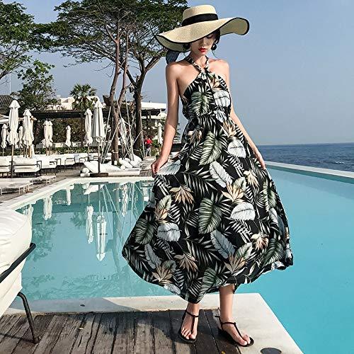 Vestido De Mujer con Estampado Floral De Verano Boho Tropical Long Vacation...