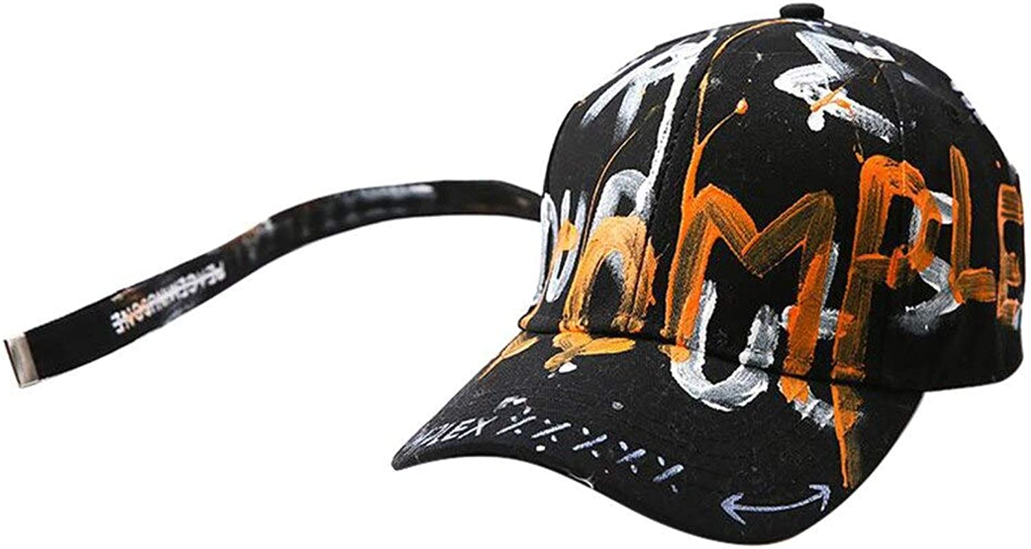 Chlally Baseball Cap Snapback Unisex Hand Painting Outdoor Letters