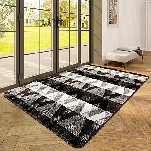 "DEXI Indoor Doormat Front Door Rug, 47""x67"" Absorbent Machine Washable Inside Door Mat Large, Non Slip Low-Profile Entrance Rug for Entry, Back Door, Black"