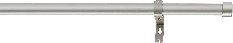 91.4-182.8 cm nickel colour Basics Curtain rod