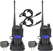 Retevis RT6 IP67 2 Way Radio Waterproof Dual Band VHF UHF 128 CH Tri-color LCD Display Walkie Talkies with Earpiece Hunting Hiking (2 Pack)