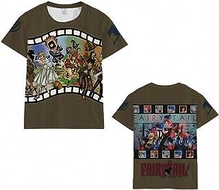 Jing88AAn Unisex Men's Women's Anime Fairy Tail Natsu & Gray Fullbuster & Lucy Heartfilia T-Shirts (14 Colors)