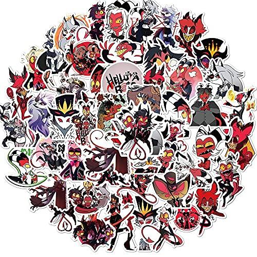 LVLUO Boss Anime Pegatina Dibujos Animados Doodle monopatín Impermeable Maleta de Viaje teléfono móvil Equipaje Pegatina para niños Juguetes 50 Uds