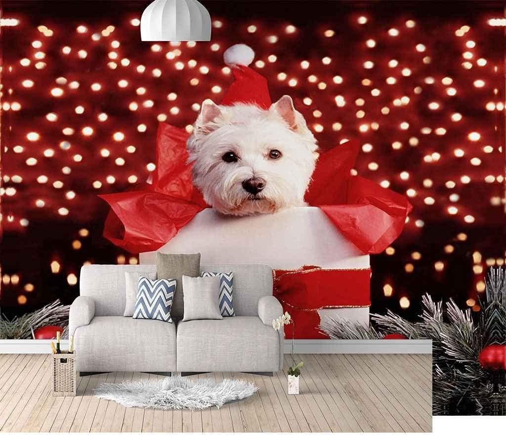 FVGKYS Wall Art In stock Mural Custom Cheap bargain White Stickers 3D Christmas Pu