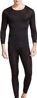 Silk Long Underwear Men's Silk Long Johns 2pc Thermal Underwear Set