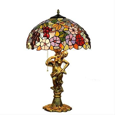 ZHANGJW Lámpara de Mesa Estilo Tiffany de 16 Pulgadas, luz de Mesa ...