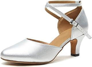 MINITOO Femme Bride Cheville Cuir Chaussures de Danse Latines L188