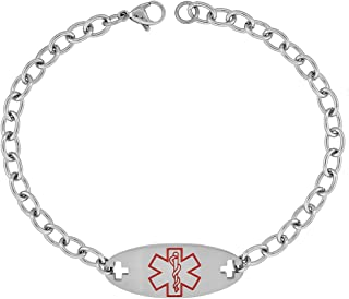 Surgical Steel Medical Alert Bracelet for XARELTO ID 9/16 inch Wide, 9 inch Long