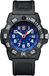 Luminox - new NavySEAL carbon compound 3500 series Watch with carbon compound Case Blue|White Dial and PU Black Strap XS.3503