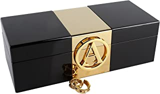 A Comely Initial Jewelry Box (Black, A)