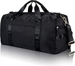 Gym Sports Duffle Bag - Waterproof Travel Duffel Bag with Wet Pocket and Shoes Compartment Overnight Weekender Bag for Wom...