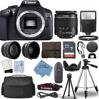 Canon Rebel T6 DSLR Camera + 18-55mm 3 Lens Kit + 16GB Top Value Bundle - 2X Telephoto Lens + Wide Angle Lens + 3 Piece Filter Kit + Tripod + Lens Hood + Flash + Extreme Electronics Cloth + More