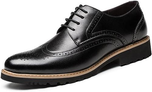 Les hommes de bullock chaussures mode style britannique de chaussures en cuir gravé bullock,noir,trente - huit