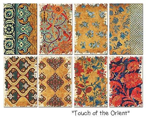Paper Moon - Scrapbooking carta di lusso 10.5cm x 7cm x 8 fogli - Touch of the Orient Mini