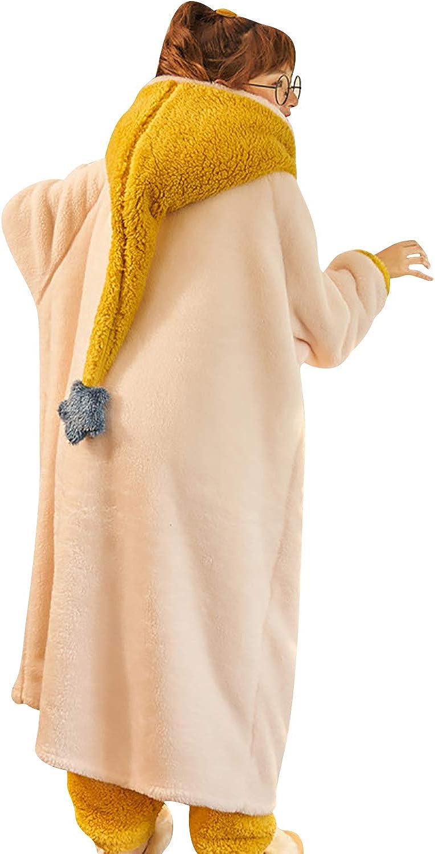 Invierno Lana Camis/ón Capucha Robe Albornoz Dama de Honor Ropa de Dormir Pijama para SPA Hotel Sauna Cierre de Bot/ón YAOMEI Kimono Albornoz para Mujer Hombre