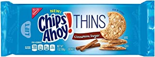 Chips Ahoy! Thins, Cinnamon Sugar Cookies, 7 Ounce (Pack of 2 )