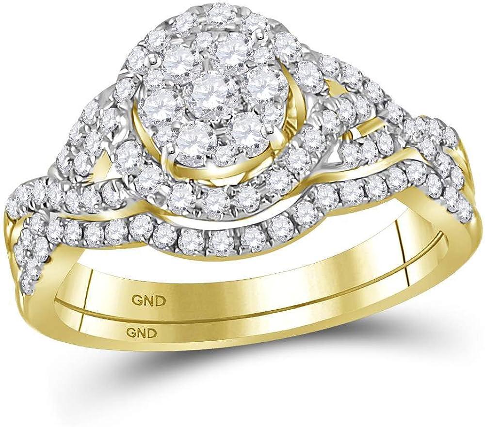 Dazzlingrock Collection Elegant 14kt Yellow Gold Round Trust We Bridal Diamond