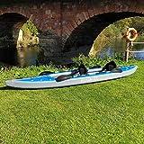 AQUATEC Kayak | Inflatable Sea & Fishing Kayak | Inflatable Boat Available as Single or Double Kayak | Bag & Kayak Paddles Included (Double (Tandem), Ottawa (Pro))