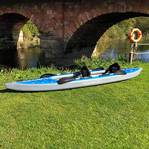 AQUATEC Kayak   Inflatable Sea & Fishing Kayak   Inflatable Boat Available as Single or Double Kayak   Bag & Kayak Paddles Included (Double (Tandem), Ottawa (Pro))
