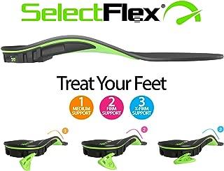 SelectFlex®Adjustable-Arch Orthotic Insole, Custom Arch Support: Plantar Fasciitis, Neuropathy, Flat Feet, Overpronation, Aching Feet, Foot Pain, Mortons Neuroma, Low Back Pain.Men/Women