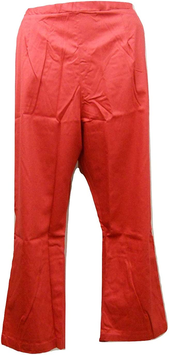 American Sweetheart Women's Casual Pants Solid Red Inseam 28 26W Petite-Plus-Size