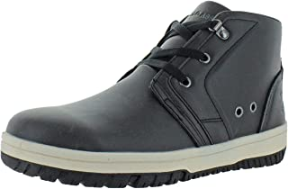 Mens Faux Leather Ankle Chukka Boots