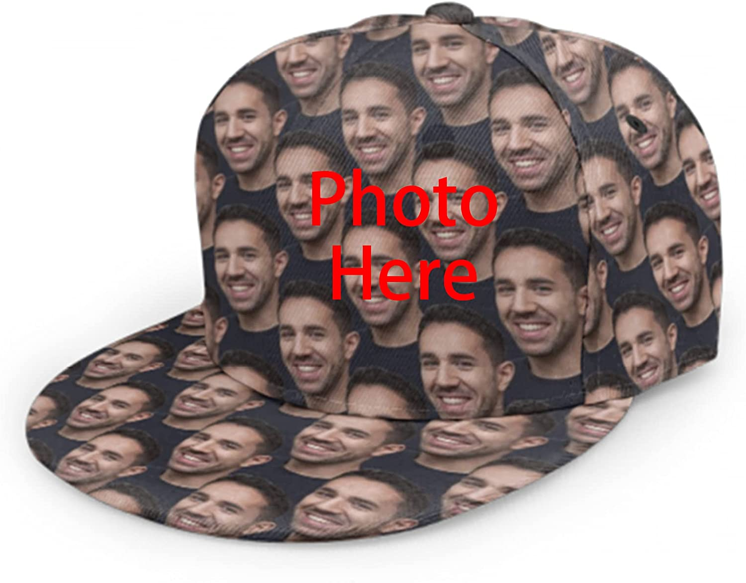 Custom Hats for Men or Women Design Your Own Photo Personalized Face All Over Print Baseball Cap