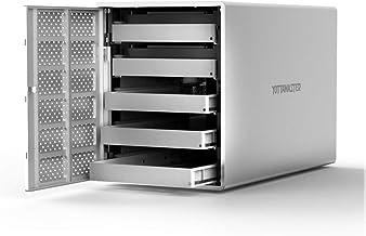 "Yottamaster Aluminum Alloy 5 Bay USB3.0 2.5""/3.5"" External Hard Drive RAID Enclosure for 2.5/3.5 Inch SATA HDD Support 5 x 16TB & UASP -Silver"